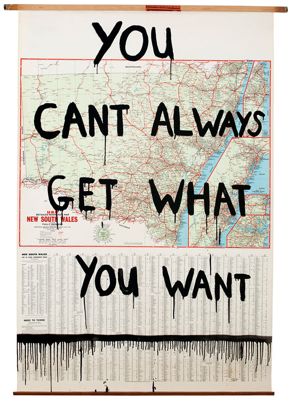 Richard Lewer You Cant Always Get What You Want 2009 Enamel On
