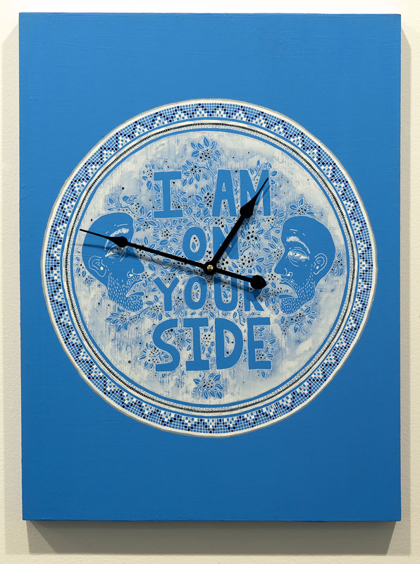 Lucas Grogan, I am on your side, 2013, clock, ink and
