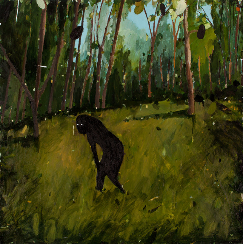 Richard Lewer, Yowie, 2015, from Believe It or Not, oil on canvas, 153 x 153 cm